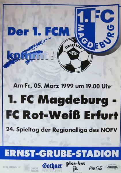 RW Erfurt Programm 1994//95 Hertha 03 Zehlendorf